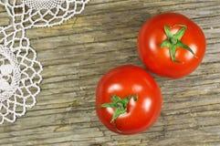 Rote Kirschtomaten stockbild