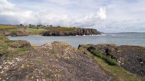 Rote Klippen bei Dunmore Ost Stockfotos