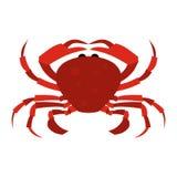 Rote Krabbenikone Stockfoto