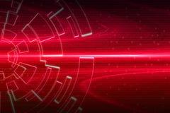 Rote Kreisglühenwelle Scifi- oder Spielhintergrund Lizenzfreies Stockbild
