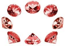Rote Kristalle Lizenzfreies Stockbild
