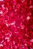 Rote Kristalllutschbonbons lizenzfreie stockbilder
