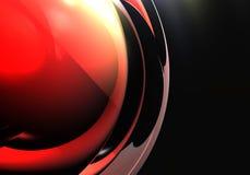 Rote Kugel 01 Stockfoto