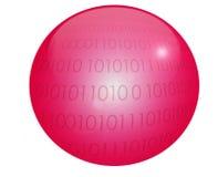 Rote Kugel Vektor Abbildung