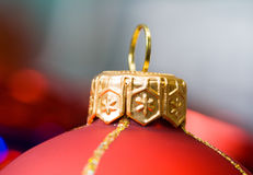 Rote Kugel von Weihnachten Lizenzfreie Stockfotos