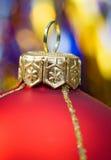 Rote Kugel von Weihnachten Lizenzfreie Stockfotografie