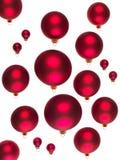 Rote Kugeldekorationen für Weihnachtsbäume Lizenzfreie Stockfotos