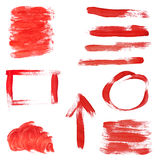 Rote Lack-Auslegung-Elemente Lizenzfreies Stockbild