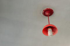 Rote Lampe Stockfotografie