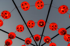 Rote Lampe Chiness oder roter Ballon Stockbilder