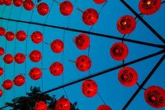 Rote Lampe Chiness oder roter Ballonhintergrund Stockfoto
