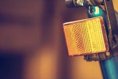 Rote Lampe des Fahrrades Stockfotos