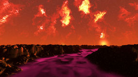 Rote Landschaft Lizenzfreie Stockfotografie