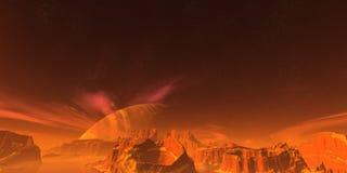 Rote Landschaft Lizenzfreies Stockbild