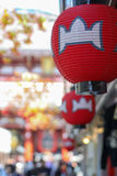 Rote Laterne in Asakusa, Japan Lizenzfreie Stockfotografie