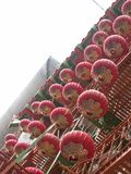 Rote Laternen in Chinatown stockbilder