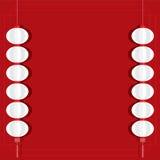 Rote Laternen-Hintergrund-Schablone Lizenzfreies Stockfoto