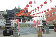 Rote Laternen in Yokohama Chinatown Lizenzfreies Stockbild
