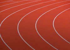 Rote laufende Spur Stockbild
