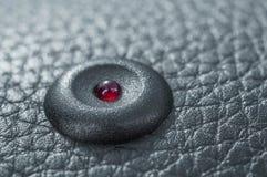 Rote LED errichtet in die Autotür lizenzfreies stockbild
