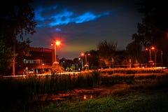 Rote LED ungefähr beleuchtet stockfotografie