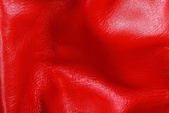 Rote lederne Beschaffenheit Lizenzfreies Stockbild