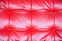 Rote lederne Beschaffenheit Lizenzfreies Stockfoto