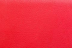 Rote lederne Beschaffenheit für Hintergrund stockbilder