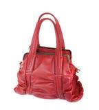 Rote lederne Handtasche Lizenzfreie Stockbilder
