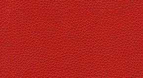 Rote lederne nahtlose Beschaffenheit Stockbild