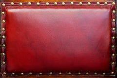 Rote Lederrückseite Stockfoto