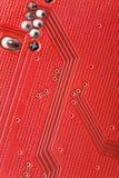 Rote Leiterplatte Stockfotografie