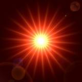 Rote Leuchte stock abbildung