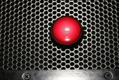 Rote Leuchte auf einem Lautsprecher Lizenzfreie Stockfotos