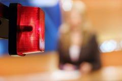 Rote Leuchte - AUF LUFT-Zeichen Lizenzfreie Stockbilder