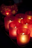 Rote Leuchter, vorgewählter Fokus. lizenzfreie stockbilder