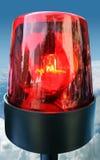 Rote Leuchtfeuerleuchte Stockfoto