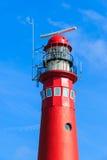 Rote Leuchtturmnahaufnahme Stockbilder