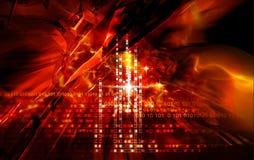 Rote Lichteffekte Stockfotografie