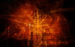 Rote Lichteffekte Stockfoto