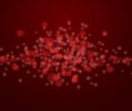 Rote Lichter auf schwarzem Hintergrund Lizenzfreies Stockfoto