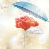 Rote Liebesballone ENV 10 Stockfotos
