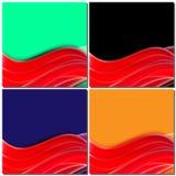 Rote Linien, Wellenbewegung, entwerfen abstrakten Hintergrund für Geschäft stock abbildung
