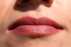 Rote Lippen Lizenzfreies Stockfoto