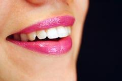 Rote Lippen 2 Lizenzfreie Stockbilder