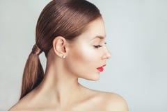 Rote Lippen stockfoto
