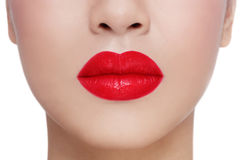 Rote Lippen Stockfotografie