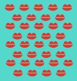Rote Lippen Stockbild