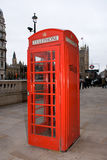 Rote London-Telefonzelle Stockbild