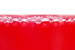 Rote Luftblasen Stockfotografie